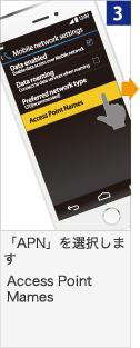 「APN」を選択します Access Point Mames